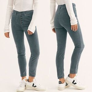 """NWT-Free People """"Sun Chaser Corduroy""""  Button Front High Rise (Size:27)"""